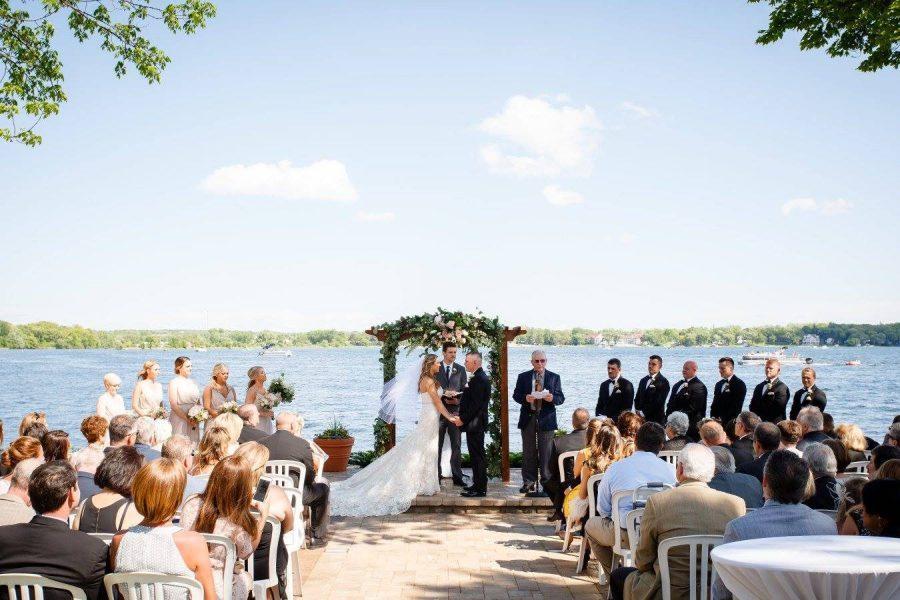 Lake Lawn Resort Wedding lakeside wedding ceremonies