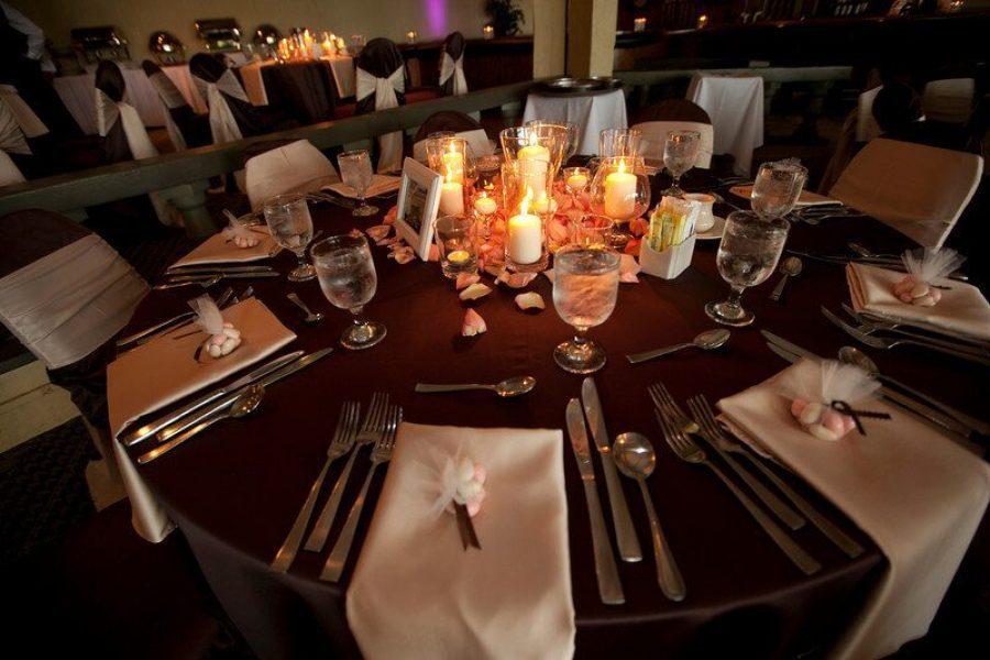 Elegant wedding reception at Lake Lawn Resort