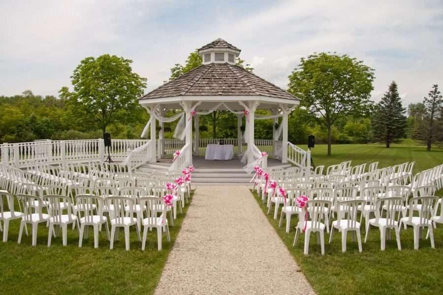 Gazebo wedding ceremony space at the Ingleside Hotel