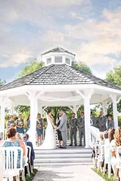 Outdoor wedding ceremony in Gazebo at the Ingleside Hotel