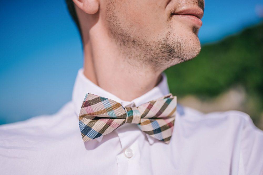 Groom wearing a bowtie