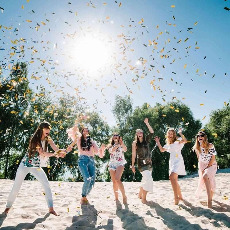 Bridal Party Enjoying a fun bachelorette party